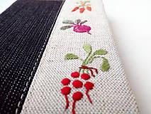 Papiernictvo - Vyšívaný zápisník Zelenina - A6 - 11374410_