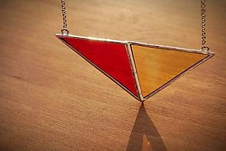 Náhrdelníky - Vitráž široký trojuholník - 11377684_