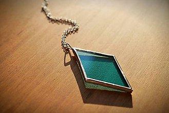 Náhrdelníky - Vitráž modrý náhrdelník - 11377893_