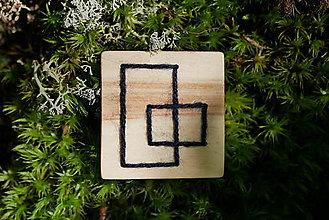 Odznaky/Brošne - WoBo drevená brošňa štvorec - 11377942_