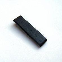 Šperky - Drevený klip na kravatu - ebenový - 11376917_