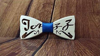 Doplnky - Pánsky drevený motýlik JAZZ BREZA - 11374977_