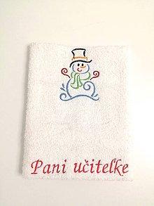 Úžitkový textil - Snehuliačik - 11381624_