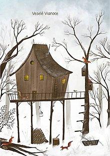 Papiernictvo - Veveričky a stromodom / pohľadnica - 11379187_