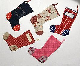 Úžitkový textil - Mikulášske čižmičky - VÝPREDAJ - posledné kusy - 11380502_