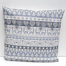 Úžitkový textil - ZĽAVA Vianočná Obliečka Sivá - 11381179_