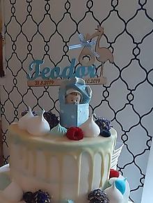 Dekorácie - Zápich na tortu - krst - 11380225_