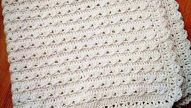 Textil - biela deka pre bábätko - 11378793_