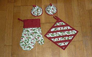 Úžitkový textil - Rukavica kuchynská so zvončekmi - 11379464_