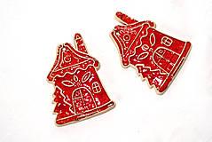 Dekorácie - Výrobky s príbehom - Vianočná ozdôbka - domček - 11380046_