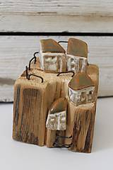 Dekorácie - kameninové domčeky 7 - 11380533_
