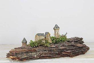 Dekorácie - domčeky na kôre - 11380399_
