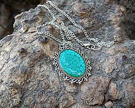 Náhrdelníky - Tyrkysový náhrdelník - 11381383_