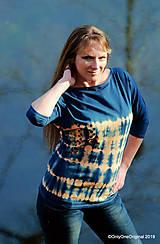 Tričká - Dámske šité tričko maľované, batikované SLNKO-VODA-VZDUCH - 11378331_