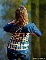 Tričká - Dámske šité tričko maľované, batikované SLNKO-VODA-VZDUCH - 11378361_