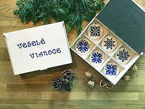 Dekorácie - .vianočné ozdoby - kráľovsky modré hviezdy - 11380147_