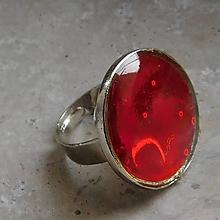 Prstene - prstienok červený - 11379814_