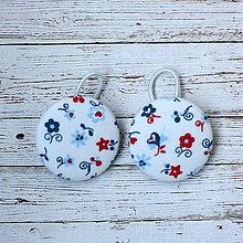 Detské doplnky - Gumičky do vlasov s buttonkami Baby flowers - 11379687_