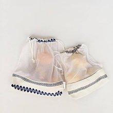 Úžitkový textil - nákupné vrecká modré ľudové sada 2 ks - 11380155_