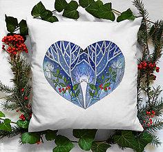 """Úžitkový textil - Maľovaný rozprávkový zimný vankúš (návliečka) """"zo srdca darované"""" - 11379034_"""