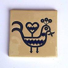 Dekorácie - Keramická obkladačka - folk motív 14 - 11381758_