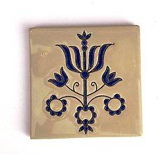 Dekorácie - Keramická obkladačka - folk motív 15 - 11381763_
