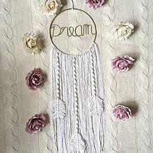Dekorácie - Romantický lapač snov Macrame Dream - 11380310_