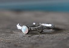Prstene - Vetvičkový s opálom... - 11379943_