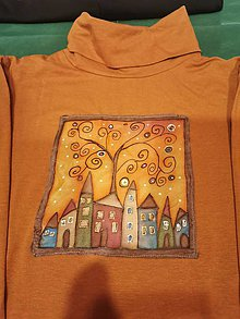 Tričká - hodváb na tričku maľovaný - 11378531_