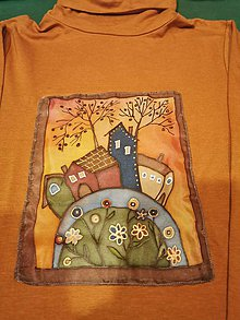Tričká - hodváb na tričku maľovaný - 11378606_