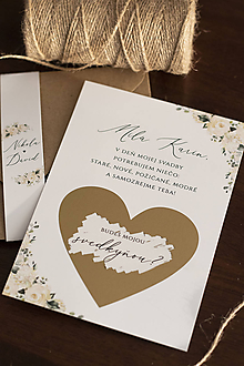 Papiernictvo - Stieracia pozvánka s jemnými bielymi kvetmi ❤ - 11380579_