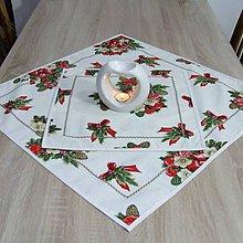 Úžitkový textil - NIKOLETA - Šišky a mašle na smotanovej - štvorcový obrus - 11378499_