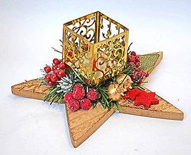 Dekorácie - Vianočná hviezda C - 11379377_