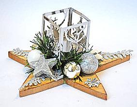 Dekorácie - Vianočná hviezda D - 11379709_