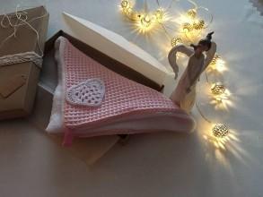Úžitkový textil - Giving Tuesday - uteráčik pre ... (farba staroružová pre Kristínku) - 11380425_