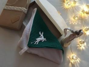 Úžitkový textil - Giving Tuesday - uteráčik pre ... (farba tmavozelená pre Tivadara) - 11380433_