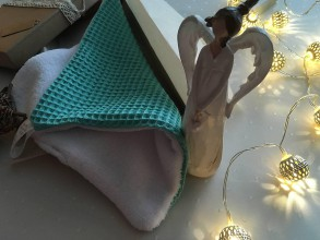 Úžitkový textil - Giving Tuesday - uteráčik pre ... (farba morská zelená pre Maxima S.) - 11380458_