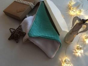 Úžitkový textil - Giving Tuesday - uteráčik pre ... (farba morská zelená pre Anastáziu) - 11380573_
