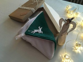 Úžitkový textil - Giving Tuesday - uteráčik pre ... (farba tmavozelená pre Martina) - 11380685_