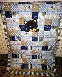 Textil - Detská patchworková prikrývka - 11378072_