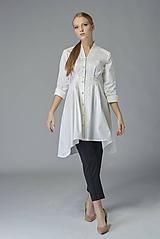 Košele - Košeľové šaty Biela báseň - 11378056_