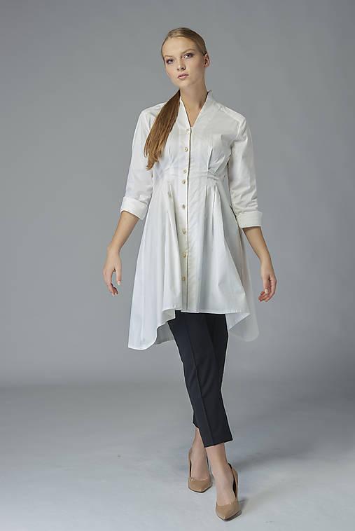 Košeľové šaty Biela báseň
