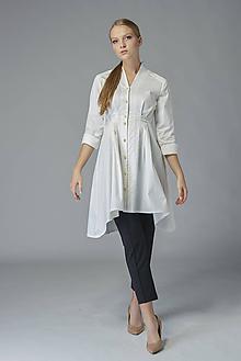 Košele - Košeľové šaty Biela báseň %ZĽAVA% - 11378056_