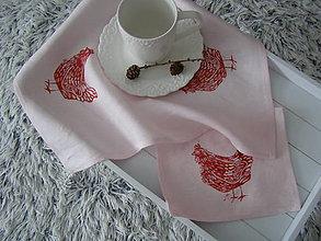 """Úžitkový textil - Prestieranie """"Sliepočka"""" - v ružovom - 11380881_"""