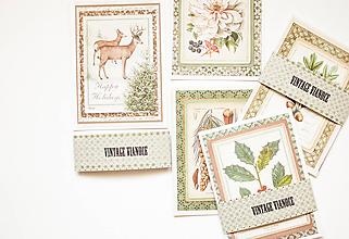 Papiernictvo - Vintage Vianoce - set pohľadníc - 11381408_