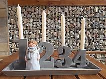Dekorácie - betónový advent s anjelom.... - 11379101_