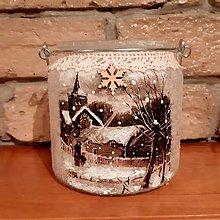 Svietidlá a sviečky - Vianočný svietnik - 11380682_