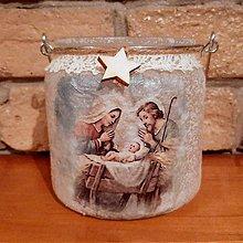 Svietidlá a sviečky - Vianočný svietnik - 11380704_