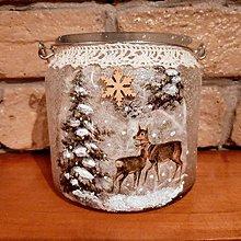 Svietidlá a sviečky - Vianočný svietnik - 11380721_