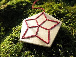 Dekorácie - WoBo dekorácia hviezda - 11381491_